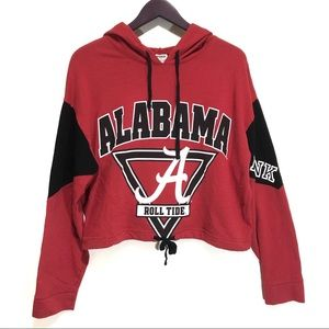 RARE! Pink VS Alabama RollTide Cropped Hoodie